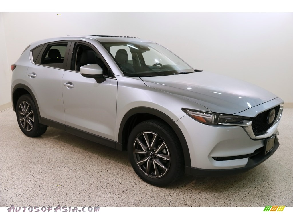 2018 CX-5 Grand Touring AWD - Sonic Silver Metallic / Black photo #1