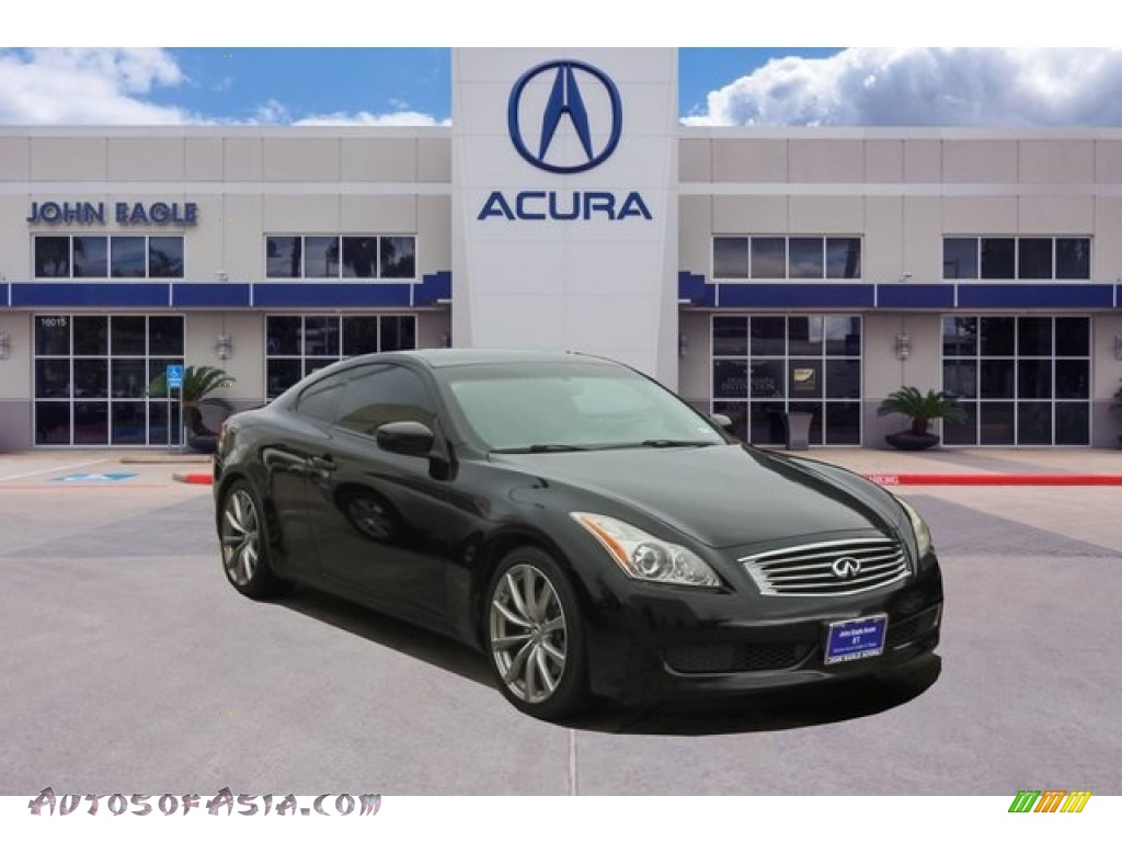 2009 G 37 Journey Coupe - Black Obsidian / Graphite photo #1