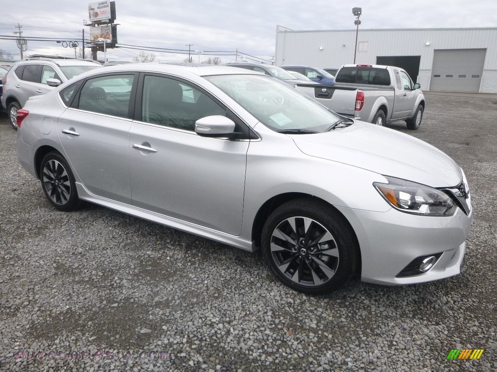 2019 Sentra SR - Brilliant Silver Metallic / Charcoal photo #1