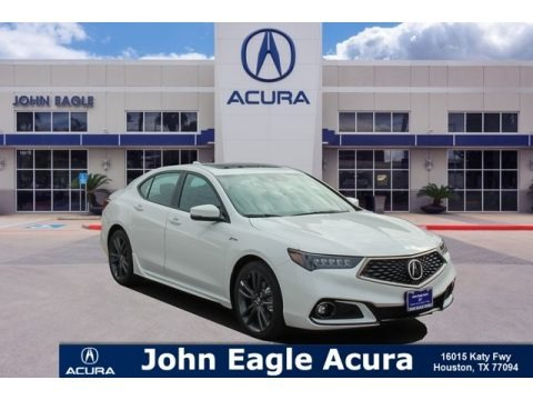 Platinum White Pearl 2019 Acura TLX V6 SH-AWD A-Spec Sedan