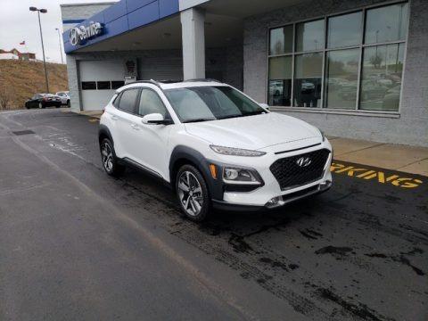 Chalk White 2019 Hyundai Kona Ultimate
