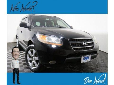 Ebony Black 2009 Hyundai Santa Fe Limited 4WD