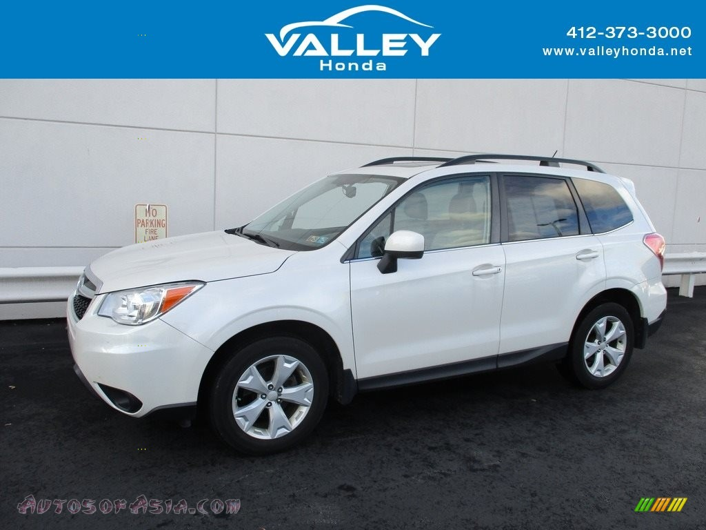 2015 Forester 2.5i Limited - Satin White Pearl / Gray photo #1