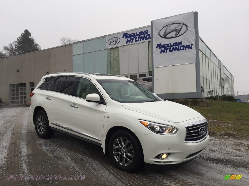 2015 QX60 3.5 AWD - Majestic White / Wheat photo #1