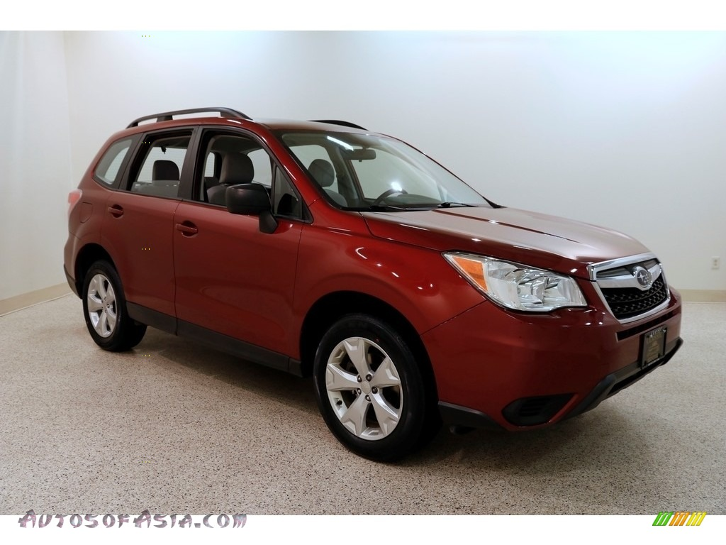 2016 Forester 2.5i - Venetian Red Pearl / Gray photo #1