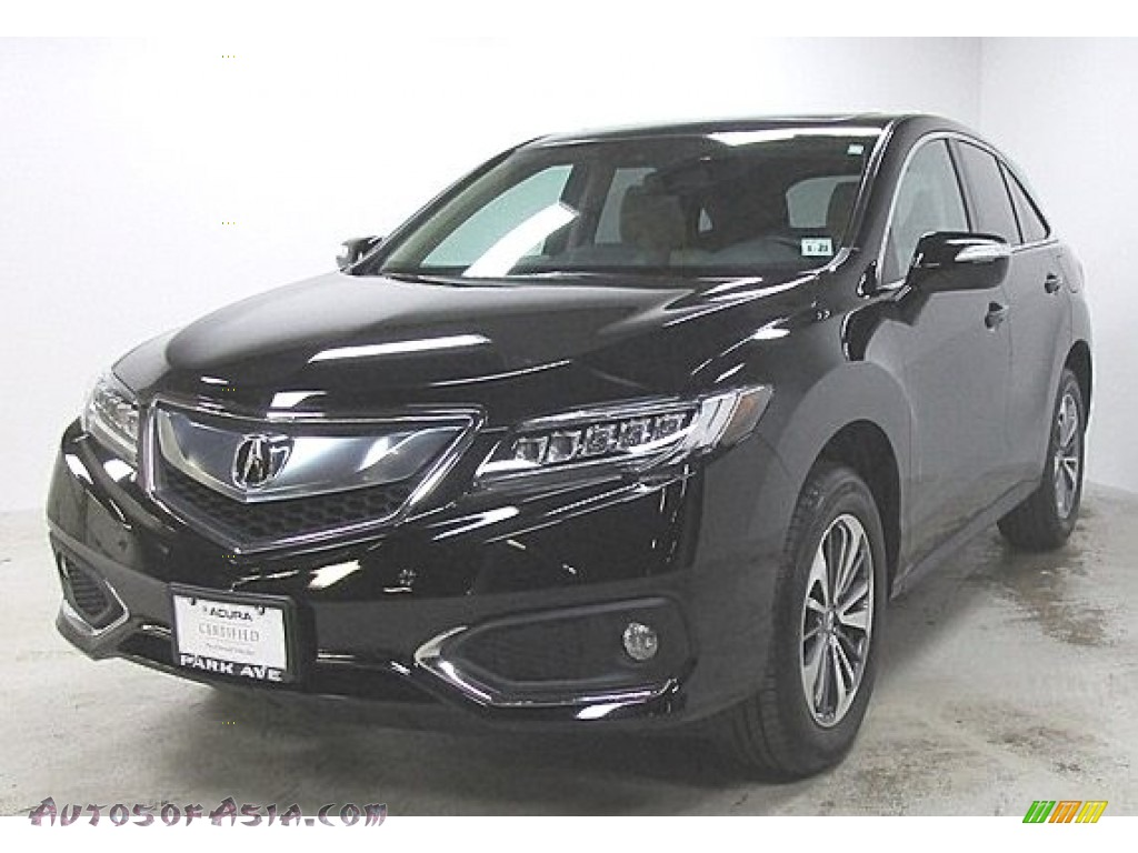 2016 RDX Advance AWD - Crystal Black Pearl / Parchment photo #1