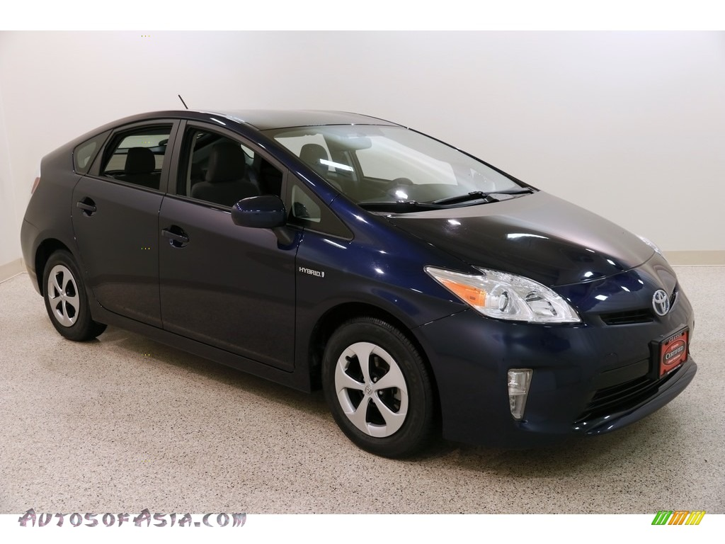 2015 Prius Two Hybrid - Nautical Blue Metallic / Dark Gray photo #1