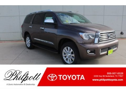 Toasted Walnut Pearl 2019 Toyota Sequoia Platinum 4x4