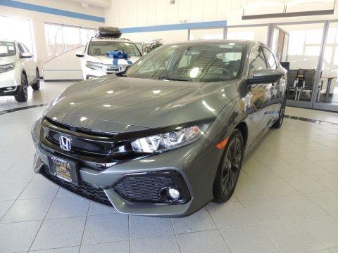 Polished Metal Metallic 2018 Honda Civic EX Hatchback