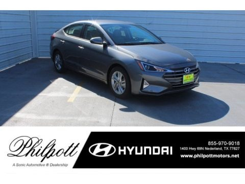 Machine Gray 2019 Hyundai Elantra SE