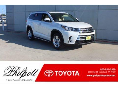 Blizzard Pearl White 2019 Toyota Highlander Limited