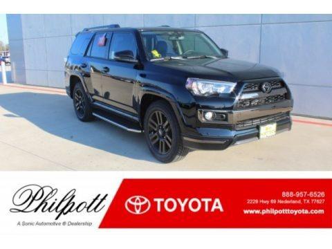 Midnight Black metallic 2019 Toyota 4Runner Nightshade Edition 4x4