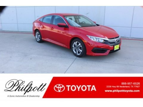 Rallye Red 2017 Honda Civic LX Sedan