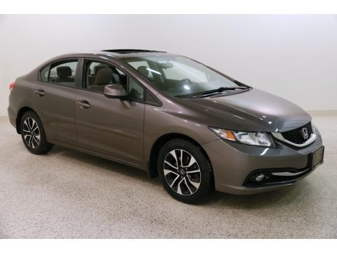 Urban Titanium Metallic 2013 Honda Civic EX-L Sedan