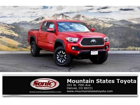 Barcelona Red Metallic 2019 Toyota Tacoma TRD Off-Road Double Cab 4x4