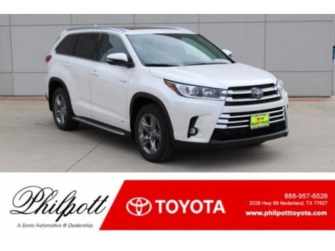 Blizzard Pearl White 2019 Toyota Highlander Hybrid Limited AWD