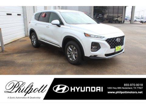 Quartz White 2019 Hyundai Santa Fe SEL