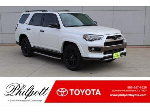 Blizzard White Pearl 2019 Toyota 4Runner Nightshade Edition 4x4
