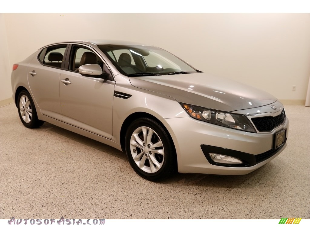 2013 Optima EX - Satin Metal Metallic / Beige photo #1