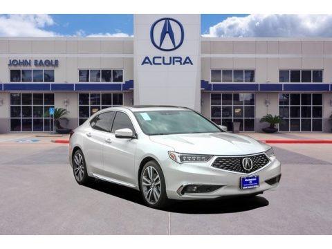 Platinum White Pearl 2019 Acura TLX V6 SH-AWD Advance Sedan