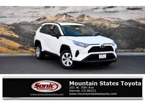 Super White 2019 Toyota RAV4 LE AWD