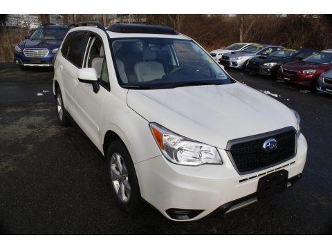 Satin White Pearl 2015 Subaru Forester 2.5i Premium