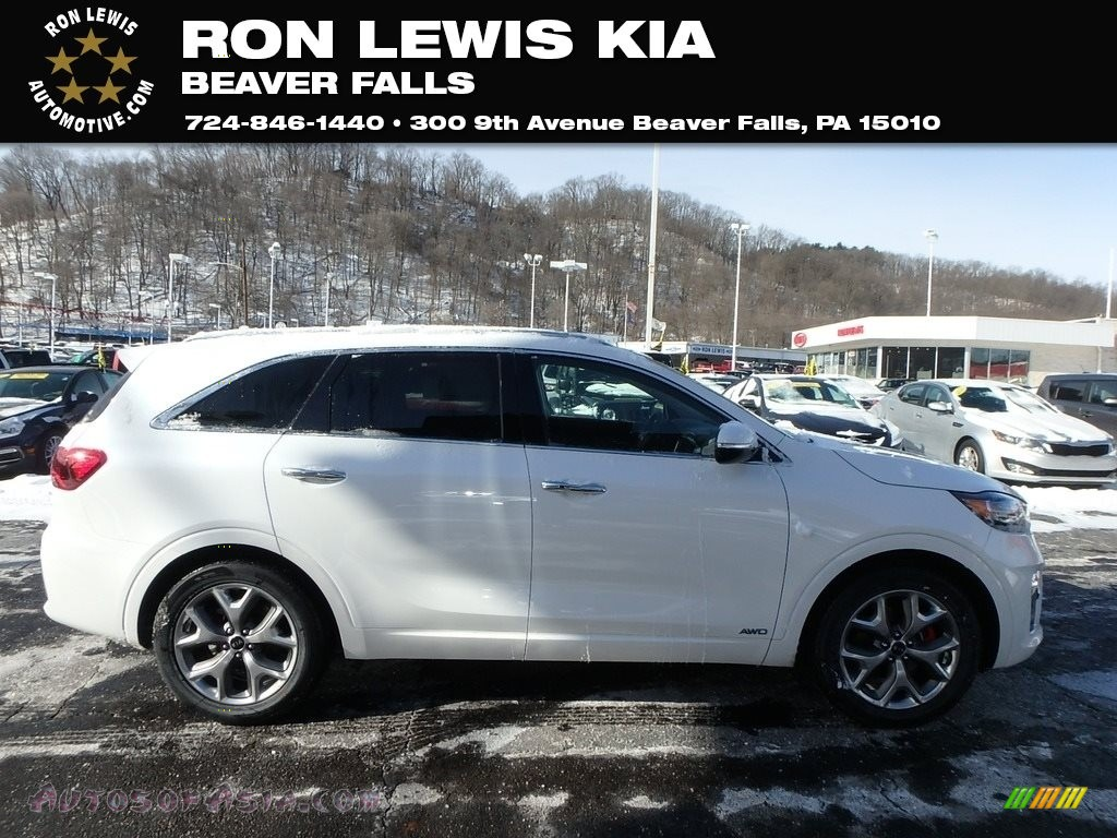 2019 Sorento SX AWD - Snow White Pearl / Satin Black photo #1