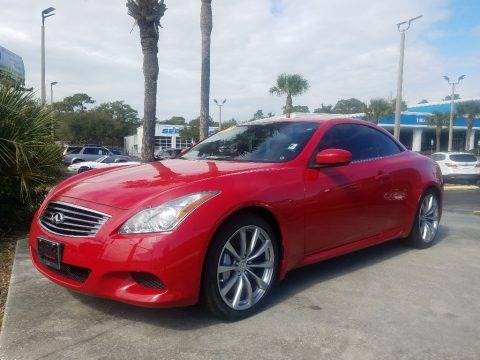Vibrant Red 2009 Infiniti G 37 S Sport Convertible