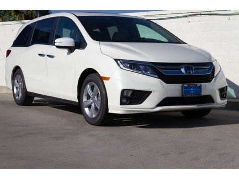 White Diamond Pearl 2019 Honda Odyssey EX-L