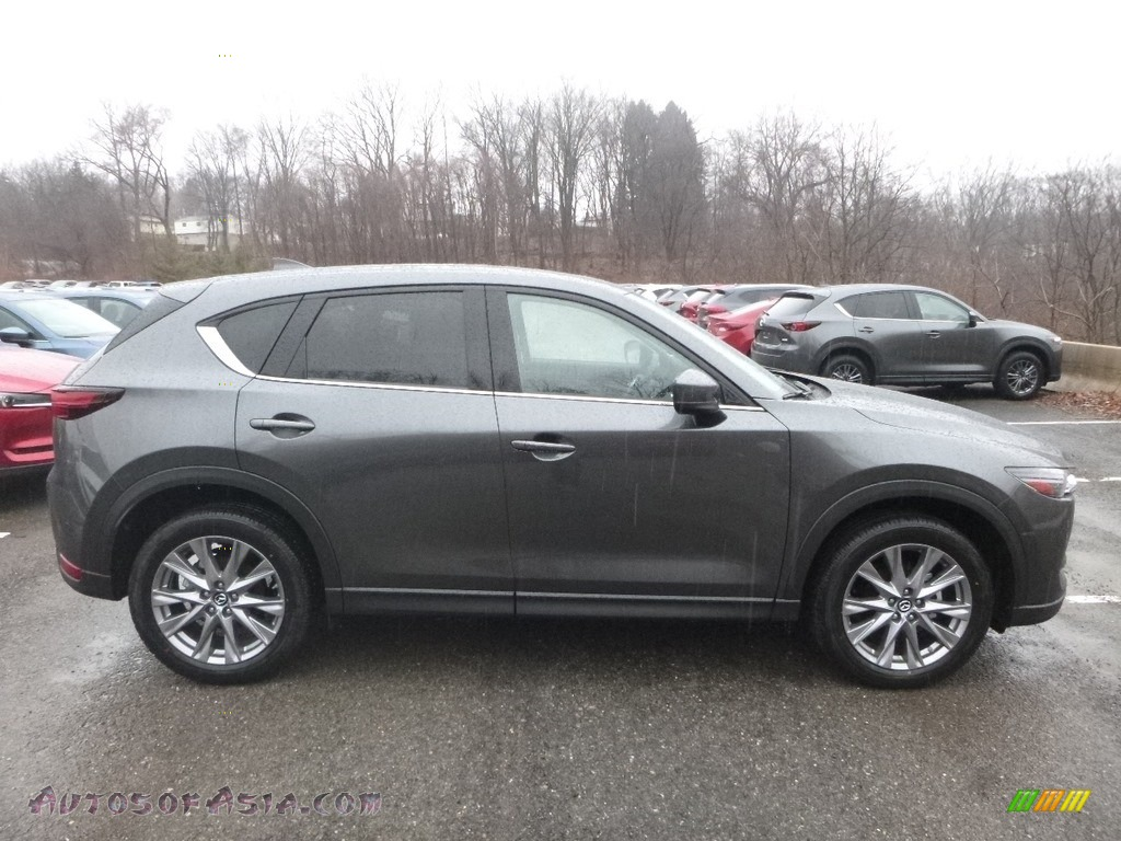 Machine Gray Metallic / Black Mazda CX-5 Grand Touring AWD