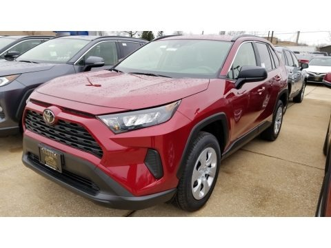 Ruby Flare Pearl 2019 Toyota RAV4 LE AWD