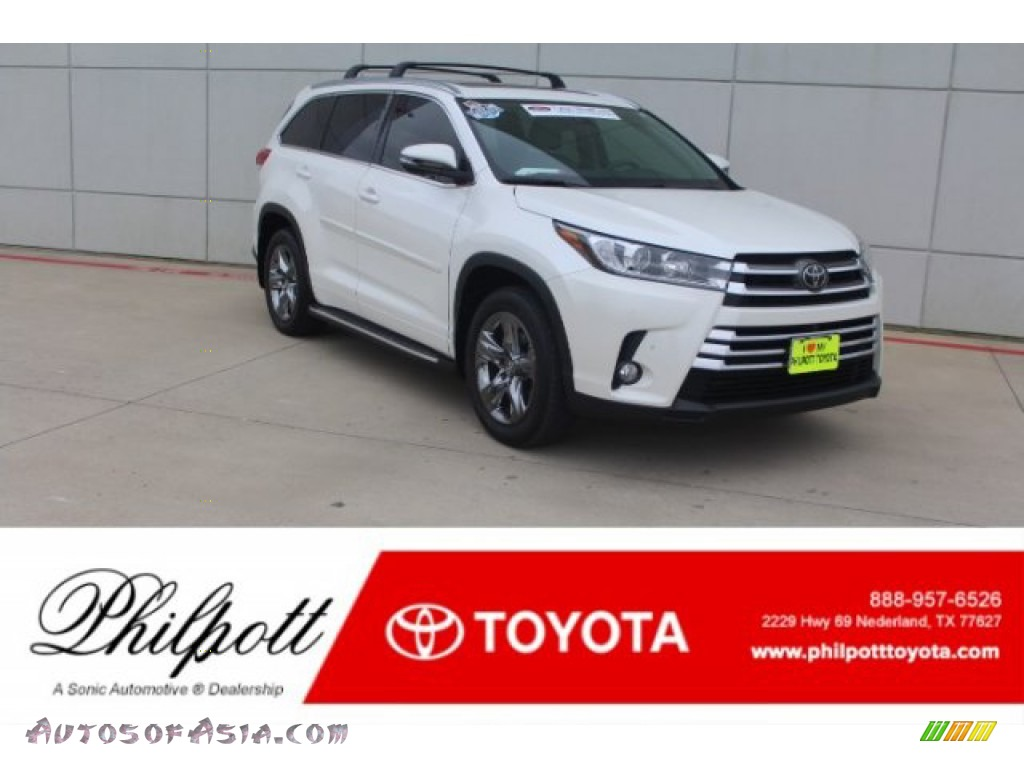 2017 Highlander Limited AWD - Blizzard White Pearl / Ash photo #1