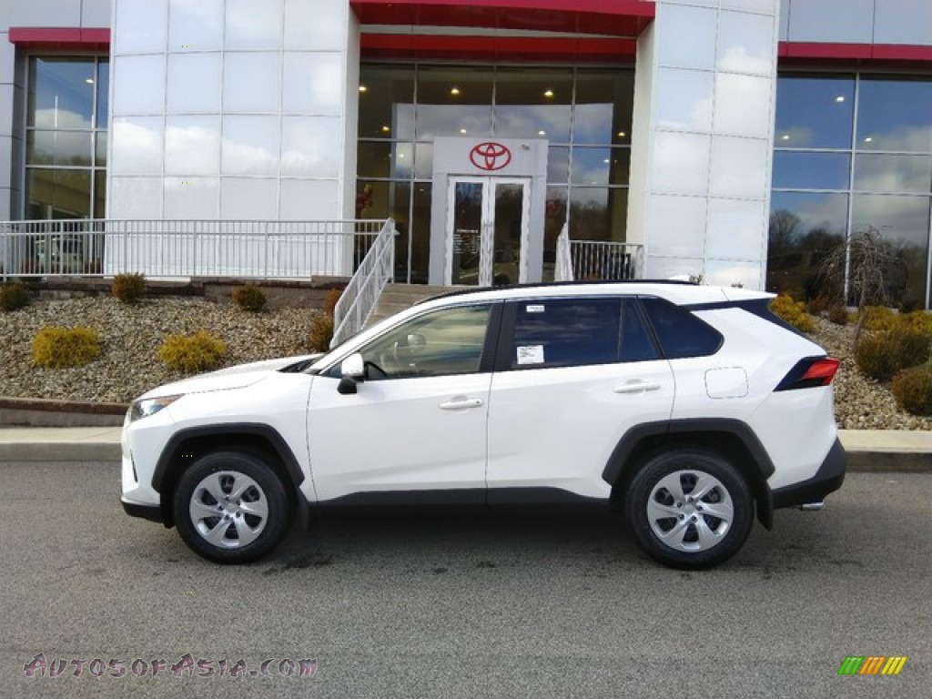 2019 RAV4 LE AWD - Super White / Black photo #2
