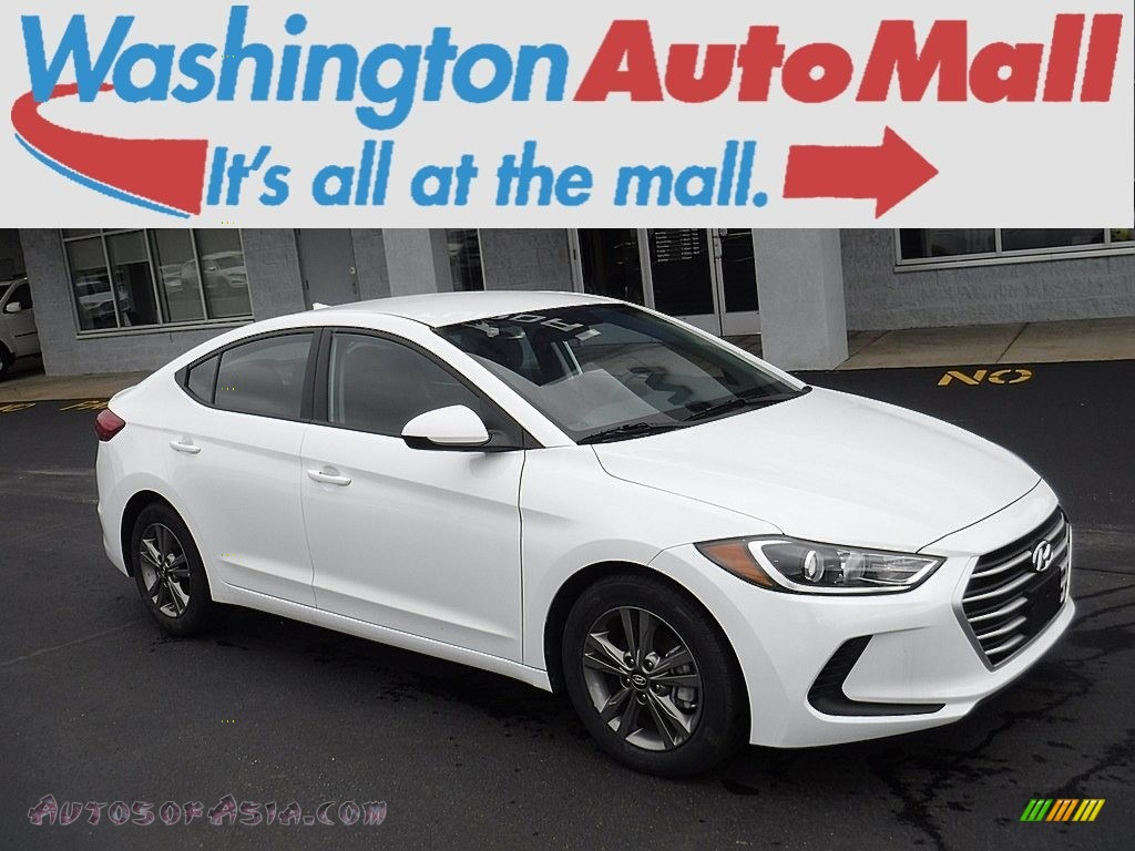 2018 Elantra SEL - Quartz White Pearl / Gray photo #1
