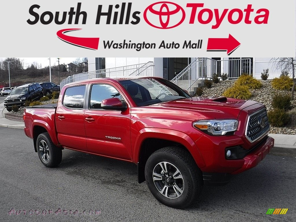 Barcelona Red Metallic / Graphite w/Gun Metal Toyota Tacoma TRD Sport Double Cab 4x4
