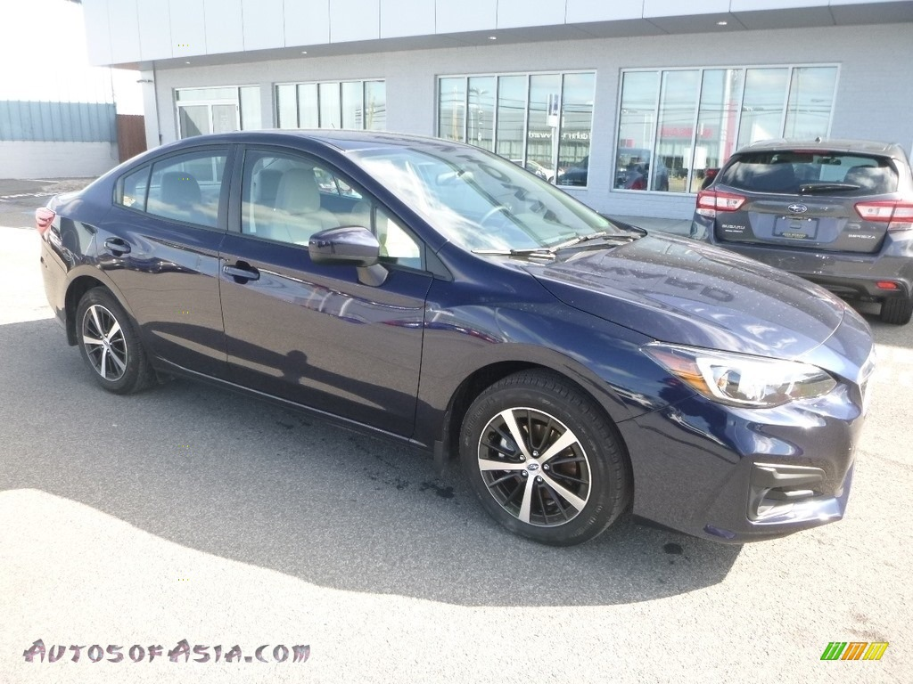2019 Impreza 2.0i Premium 4-Door - Dark Blue Pearl / Ivory photo #1