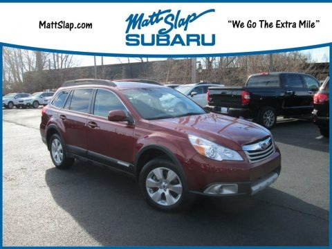 Ruby Red Pearl 2012 Subaru Outback 3.6R Limited