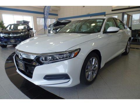 Platinum White Pearl 2019 Honda Accord LX Sedan