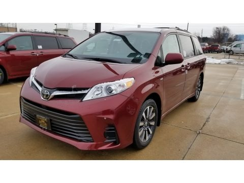 Salsa Red Pearl 2019 Toyota Sienna LE AWD