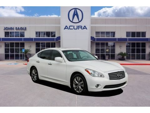 Moonlight White 2012 Infiniti M 37 Sedan