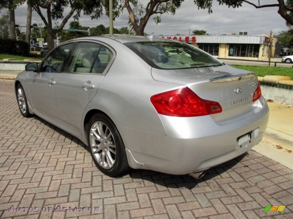 2008 G 35 S Sport Sedan - Liquid Platinum Silver / Stone photo #5