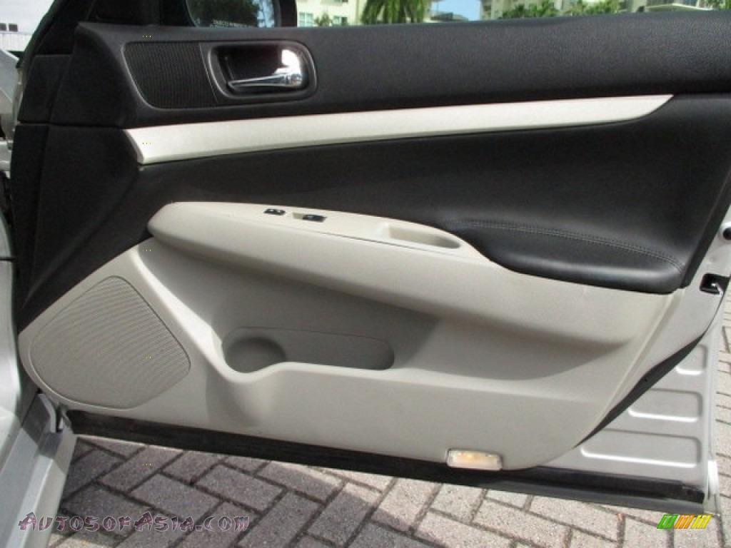2008 G 35 S Sport Sedan - Liquid Platinum Silver / Stone photo #43