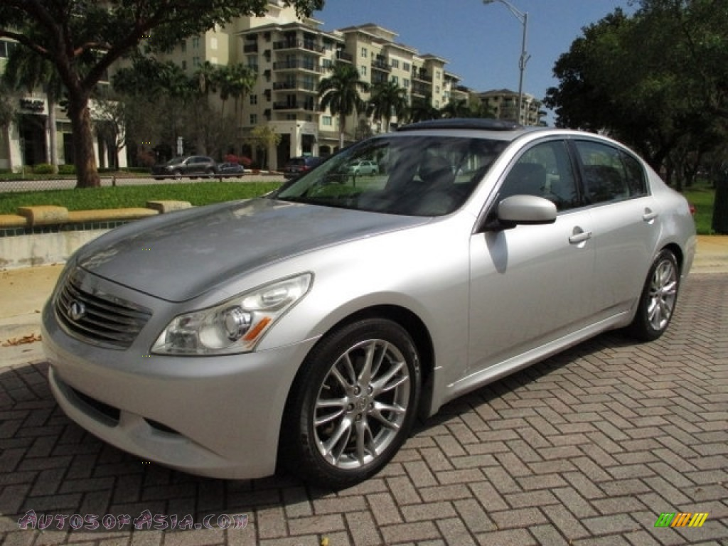 2008 G 35 S Sport Sedan - Liquid Platinum Silver / Stone photo #44