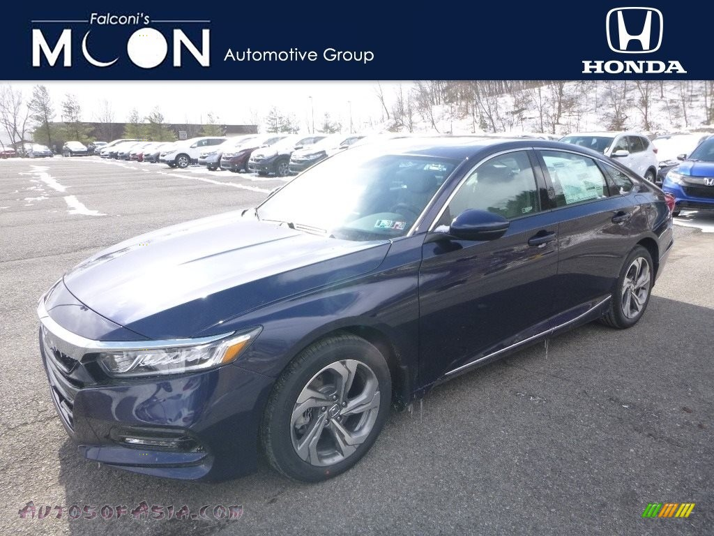 2019 Accord EX-L Sedan - Obsidian Blue Pearl / Gray photo #1
