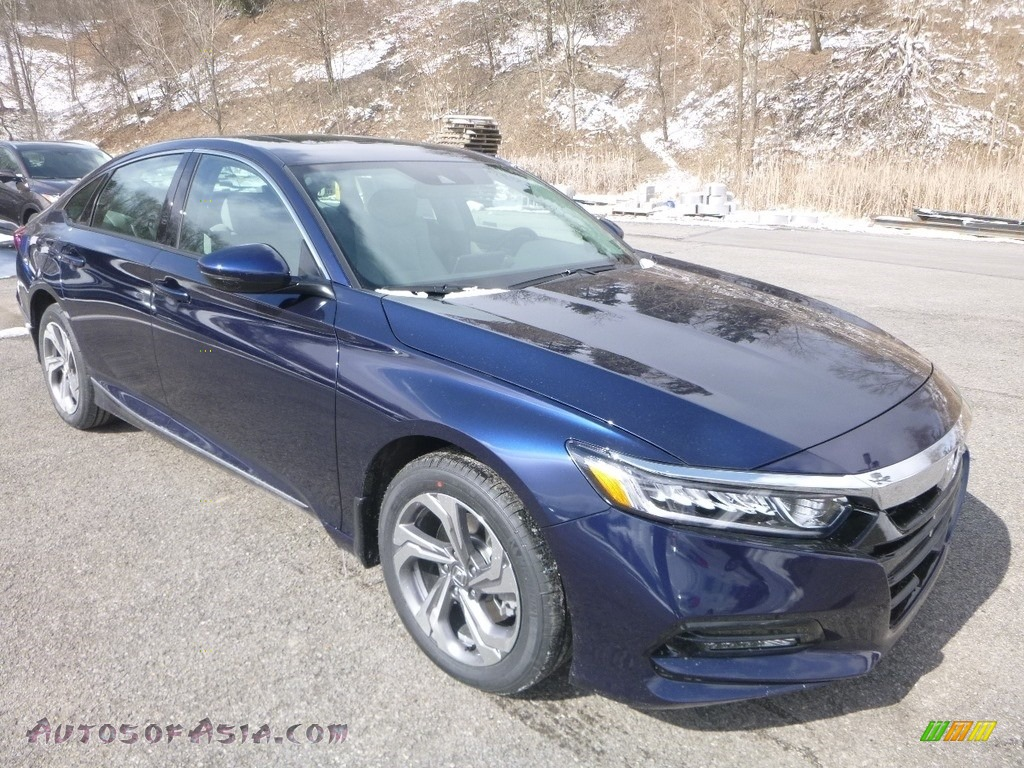 2019 Accord EX-L Sedan - Obsidian Blue Pearl / Gray photo #5