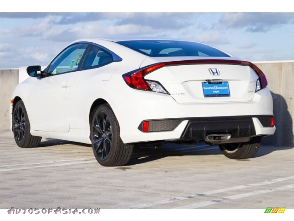 2019 Civic Sport Coupe - Platinum White Pearl / Black photo #2