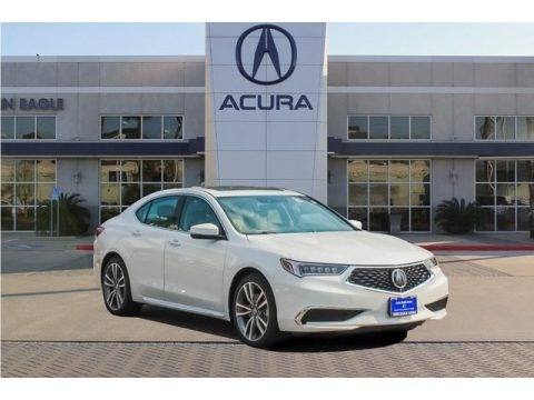 Platinum White Pearl 2019 Acura TLX V6 Sedan
