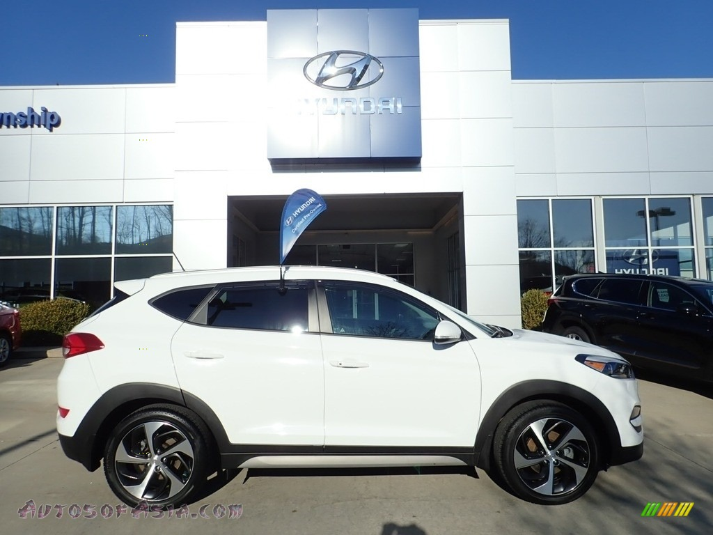 2017 Tucson Sport AWD - Dazzling White / Gray photo #1