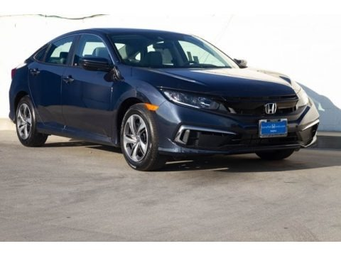 Cosmic Blue Metallic 2019 Honda Civic LX Sedan