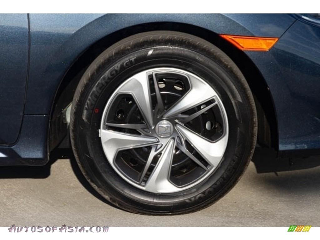 2019 Civic LX Sedan - Cosmic Blue Metallic / Gray photo #12